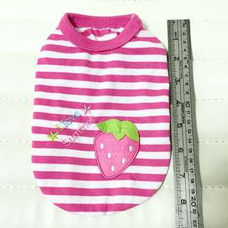 Pink Strawberry Pet Outfit