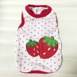 Polka Dot Strawberry Pet Outfit