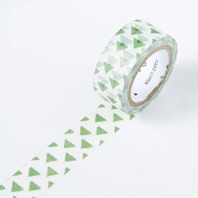 [和紙膠帶分裝]綠色小三角。紙膠帶
