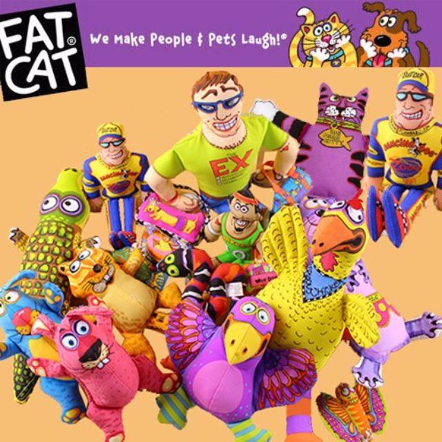 🐶 BabyPa。美國 FatCat 寵物狗狗玩具超夯耐咬帆布發聲玩具玩偶娃娃 特價 $200 - $150
