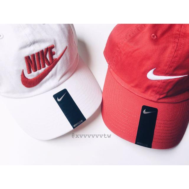 [現貨] Nike ✔️老帽 棒球帽 紅 白