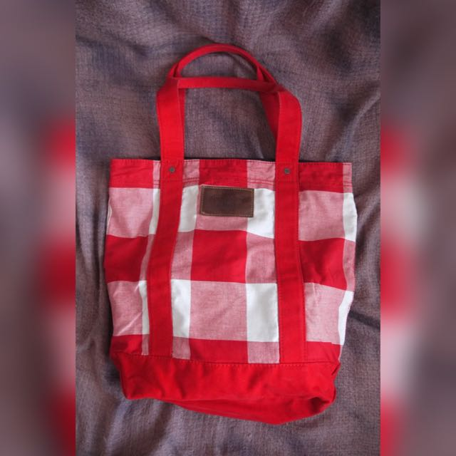 Abercrombie & Fitch Tote Bag Red