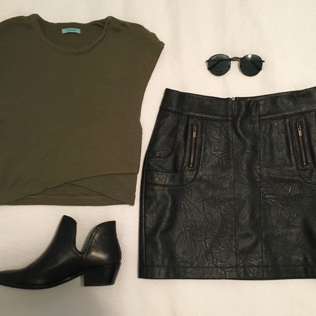 All About Eve Pleather Skirt