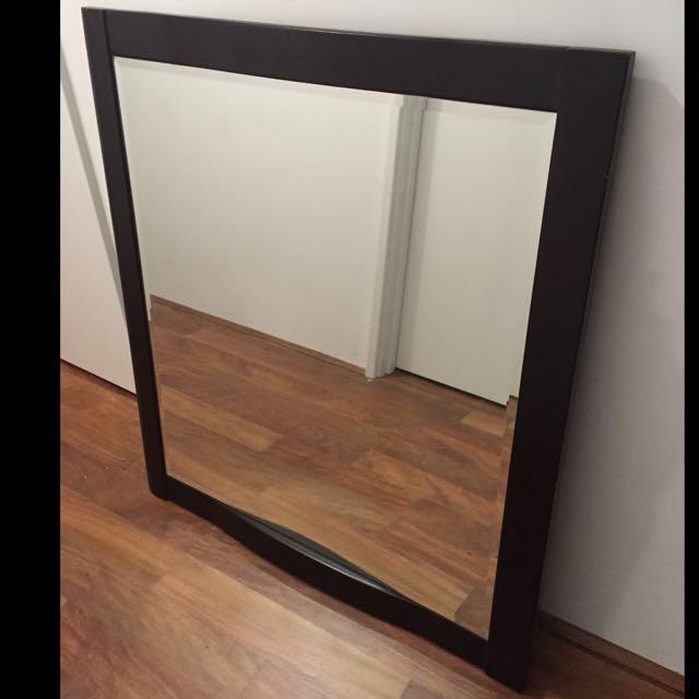 Big Solid Wood Mirror