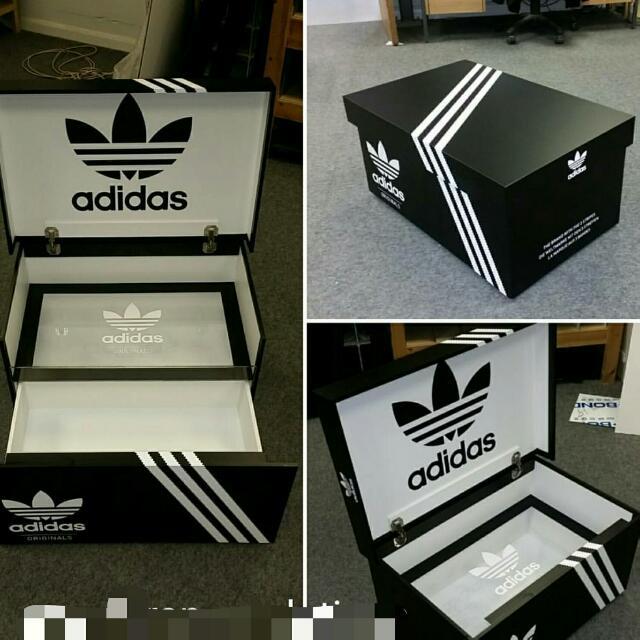 Giant spiegel Led Box met aan damesmode Shoe Adidas Zwarte tIqY5wxHF