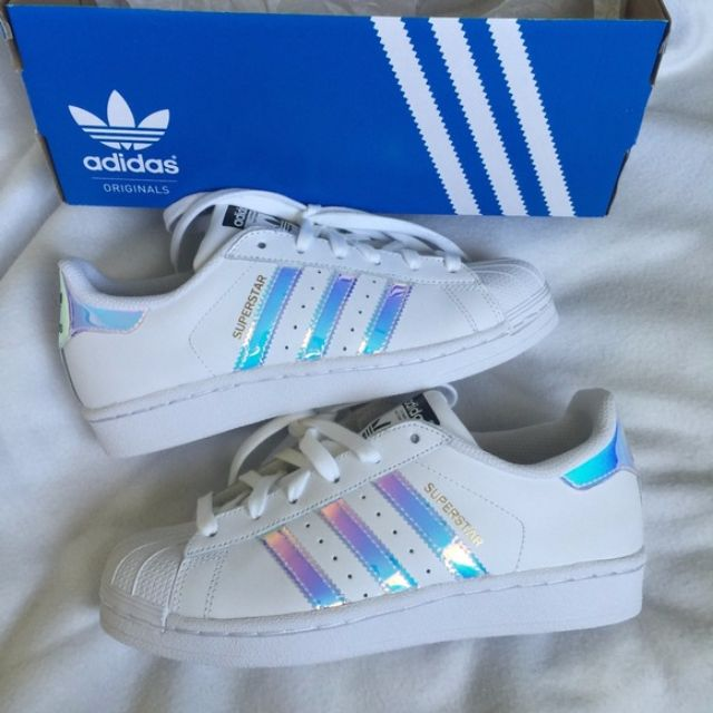 superstar j adidas holo stripes