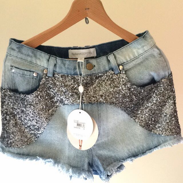 BNWT Finders Keepers Talk About Us Denim Shorts