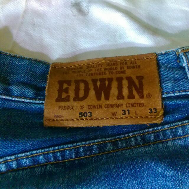 Edwin 直筒褲