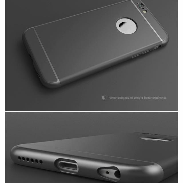 I Phone 6s 黑色質感皮套手機殼