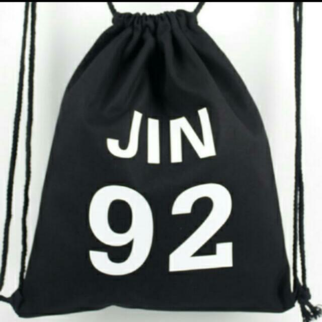 IN STOCK  BTS UNOFFICIAL JIN DRAWSTRING BAG