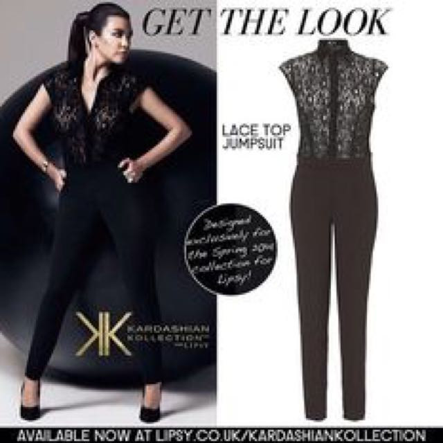 Kardashion Collection Lace Jumpsuiy