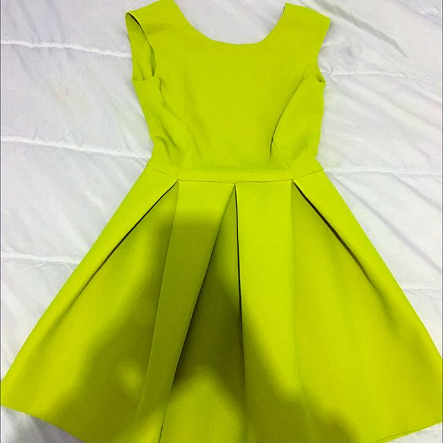 Lime Coloured Skater Dress