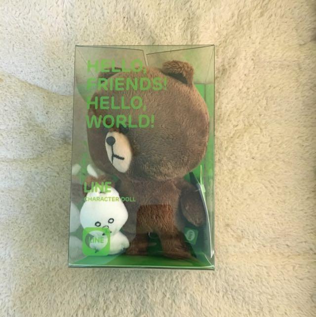 【熊大】LINE 熊大造型絨毛娃娃,全新未拆封(熊大抓兔兔)