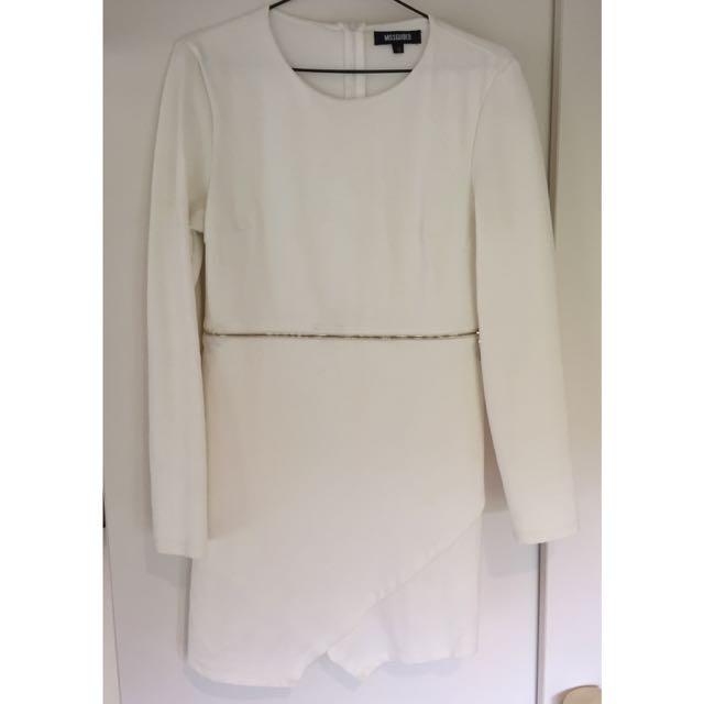 Long Sleeve Missguided Zip Dress