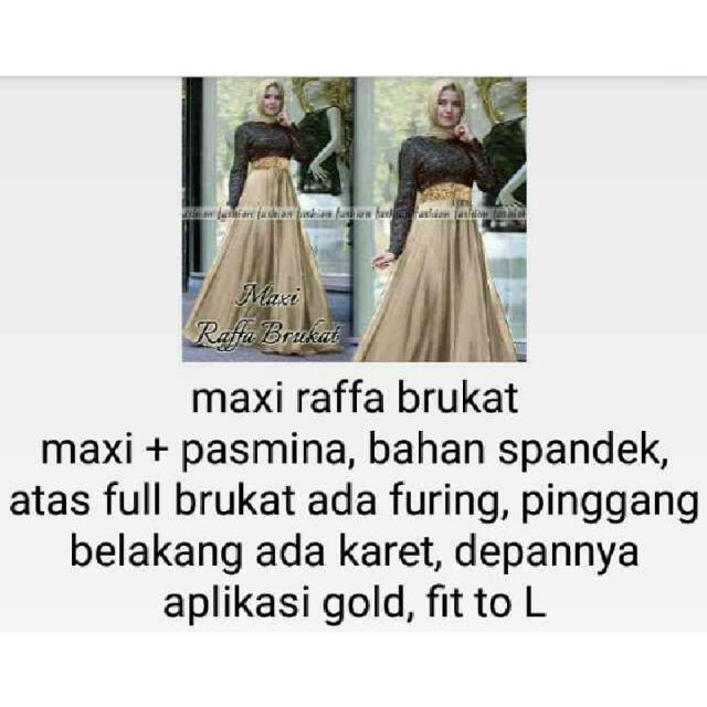 Maxi Raffa Brukat Ket. Foto