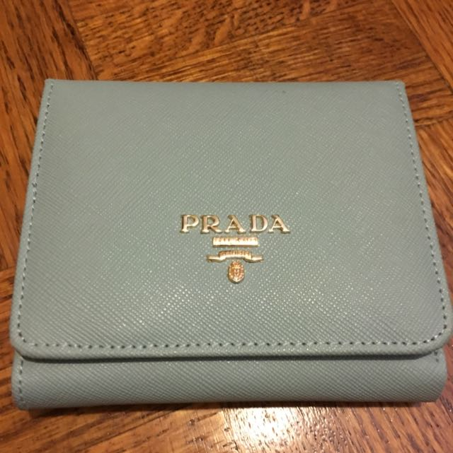 Non-authentic PRADA Wallet Baby Blue