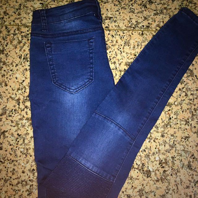 Skinny Navy Blue Jeans (size 8)