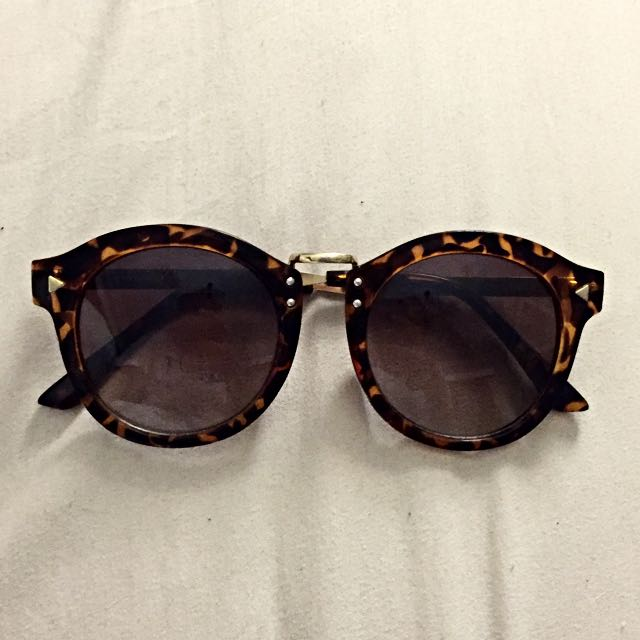 TORTOISE BROWN/GOLD SUNGLASSES