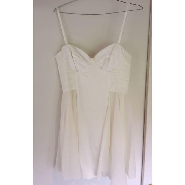 White Asos Skater Dress