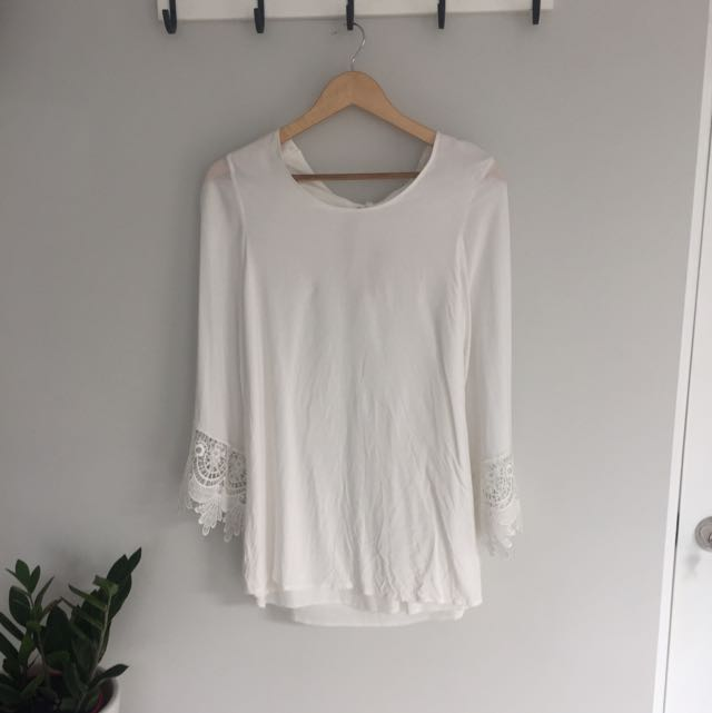 White Reverse Boohoo Dress
