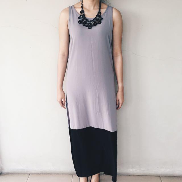 Zalora Grey Dress