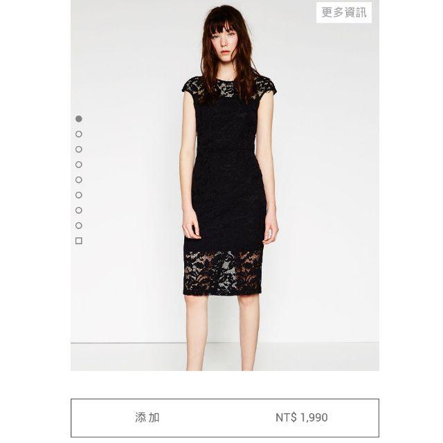 Zara 同款 蕾絲 鏤空直筒洋裝 asos forever21 h&m可參考