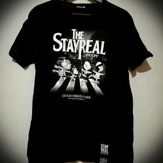 Stayreal Snoopy披頭四t恤