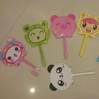 Assorted Pen (plus fan) Stationeries - Party Favors And Goodie Bags For Kids Birthday Party
