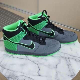 Nike Dunk High Charcoal + Electric Green Us Size 12 BNIB