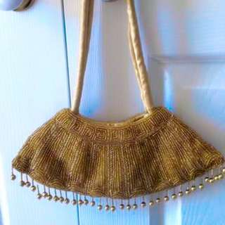 Beaded Gold Bag