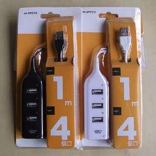 【Fun_3C】延長線造型 USB 4- PORT HUB 集線器 支援win7 UH406