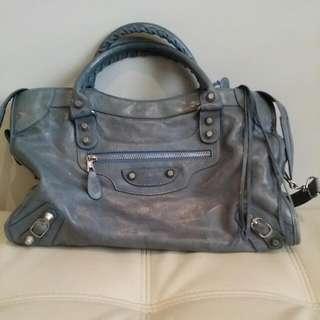 Blue Balenciaga Handbag