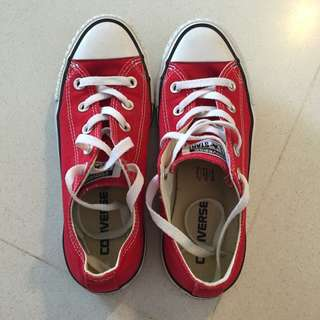 Preloved Converse Red Sneakers Shoes