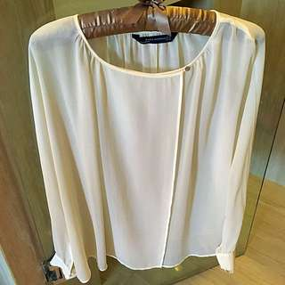 Zara Long Sleeve Nude