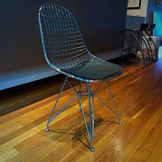 2x Wire Dining Chairs