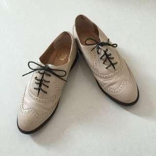 D+af 杏色牛津鞋 37
