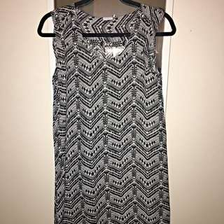 black&white chiffon dress