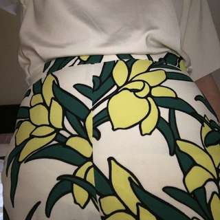 topshop culottes in palm tree patter