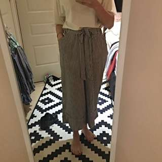 Zara Culottes in Silk Stripe