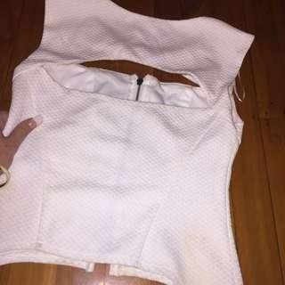 White Zip Up Shirt!