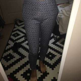 H&m Blue Patterned Pants