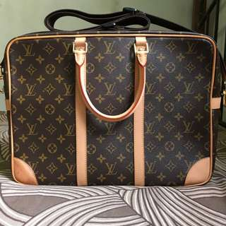 Louis Vuitton Porte Documents Voyage GM Monogram Messenger Bag (Men)