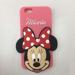 Disney 迪士尼 米妮 Minnie 矽膠造型手機殼   IPHONE 6 6s plus 5.5吋