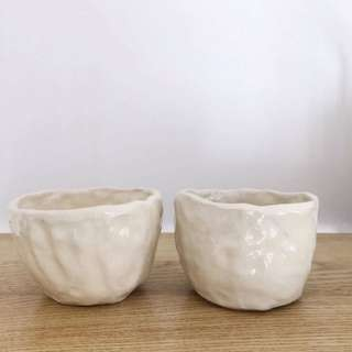 Small White Pinch Cups
