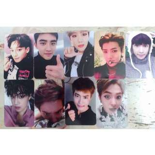 EXO SING FOR YOU UNOFFICIAL PHOTOCARD