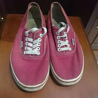 Vans Red Shoes Premium