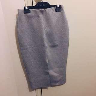 Grey Split Skirt