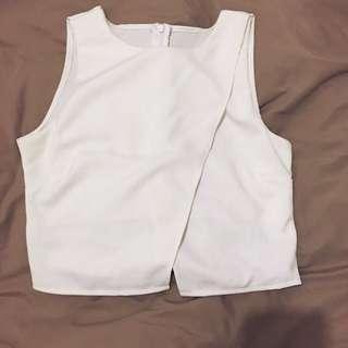 White Crop Top Size 6-8