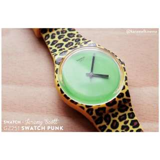 Swatch PUNK By Jeremy Scott - Punk Leopard Print - Jam Tangan