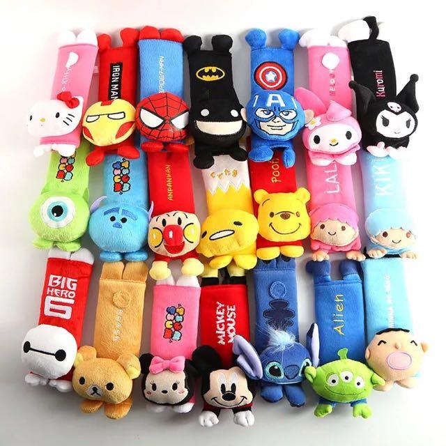 💖預購💖日本原創迪士尼玩具總動員英雄卡通汽車車內裝飾安全帶護肩套/保護套